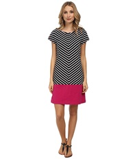 Hatley T Shirt Dress Black White Stripes Women's Dress Multi