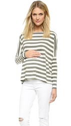 Hatch Long Sleeve Tee Grey And White Stripe