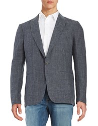 John Varvatos Notched Lapel Lightweight Luxe Jacket Pale Turquoise