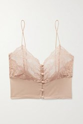 Lonely Hollie Stretch Bamboo And Lace Soft Cup Bralette Antique Rose