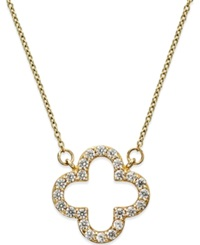 Macy's White Sapphire 2 3 Ct. T.W. Pendant Necklace In 14K Gold