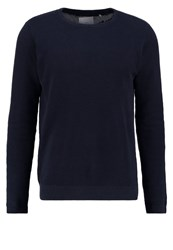 Minimum Carn Jumper Dark Navy Mel Dark Blue