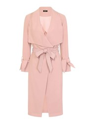 Dorothy Perkins Girls On Film Dusty Pink Twill Trench Coat