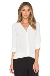 Vince Vee Button Down Blouse White