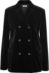 Tomas Maier Double Breasted Velvet Blazer Black