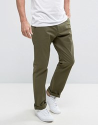 French Connection Chino Trouser In Regular Fit Khaki Green