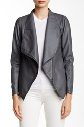 Bb Dakota Murphy Faux Leather Jacket Gray