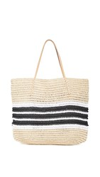 Hat Attack Trio Stripe Tote Black White