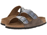 Birkenstock Arizona By Birki Tie Dye Gray Textile Men's Sandals White
