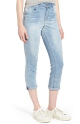 Wit And Wisdom Ab Solution High Rise Crop Jeans Light Blue