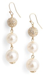 St. John Women's Collection Swarovski Imitation Pearl Drop Earrings Lt Gld Css Crys Crem Rose Prl
