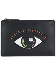 Kenzo Eye Clutch Women Cotton Leather Nylon Polyurethane One Size Black