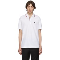 Burberry White Icon Stripe Walton Polo