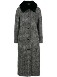 Boutique Moschino Single Breasted Coat Grey