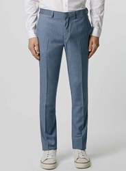 Topman Light Blue Skinny Fit Suit Trousers