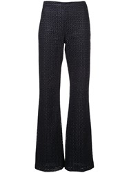 Christian Siriano Flared Tailored Trousers Blue