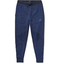 Nike Melange Tech Knit Sweatpants Blue