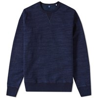 Edwin College Crew Sweat Blue