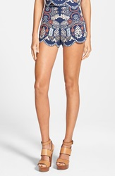 J.O.A. Embroidered Shorts Navy