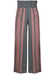 Cecilie Copenhagen Printed Afta Trousers Grey