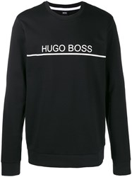Hugo Boss Logo Print Sweatshirt Black