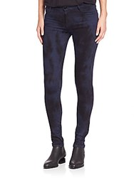 Brockenbow Emma Skinny Full Length Tie Dyed Jeans Navy