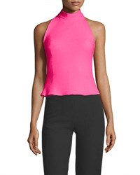 Brandon Maxwell Bow Detail Crepe Top Fuchsia