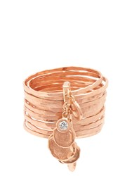 Jacquie Aiche Diamond And Rose Gold Ring Pink Gold