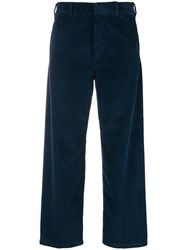 Department 5 Wide Corduroy Trousers Blue