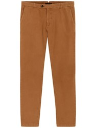 Jaeger Garment Dyed Slim Fit Chinos Camel