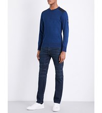 Belstaff Kilnwood Cotton Jumper Faded Indigo
