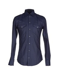 Dandg Shirts Shirts Men Dark Blue
