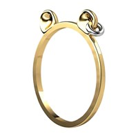 Antoanetta 14K Yellow Gold Punk Bear Ring
