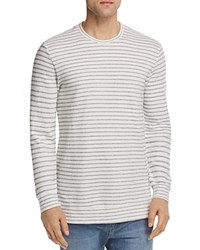 Velvet By Graham And Spencer Argo Striped Terry Crewneck Sweatshirt Natural
