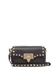 Valentino Rockstud Mini Leather Cross Body Bag Black