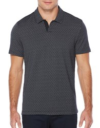 Perry Ellis Travel Luxe Jacquard Open Collar Polo