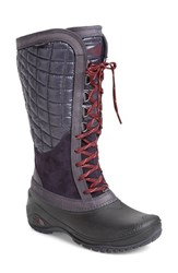 The North Face Women's 'Thermoball Tm ' Waterproof Utility Boot Nine Iron Grey Calypso Coral
