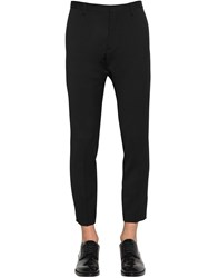 Dsquared Printed Tidy Fit Wool Cady Pants Black