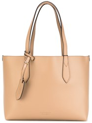 Burberry 'Lavenby' Medium Reversible Shopper Women Calf Leather One Size Nude Neutrals