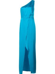 Zac Posen One Shoulder Gown Blue