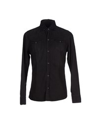 Daniele Alessandrini Denim Denim Shirts Men Black