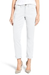 Nydj Women's Reese Relaxed Chino Pants White
