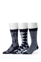 Muk Luks Assorted Socks Pack Of 3 Black