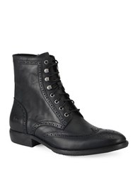 Andrew Marc New York Hillcrest Leather Boots Black