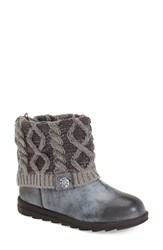 Women's Muk Luks 'Patti' Boot Grey Faux Suede