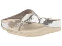 Fitflop Ringer Sequin Toe Post Silver Women's Shoes