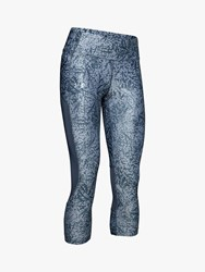 Under Armour Speed Stride Printed Capri Running Tights Downpour Grey
