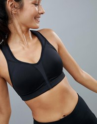New Balance High Support Bra In Black