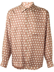 Jean Paul Gaultier Vintage Polka Dot Shirt Nude And Neutrals