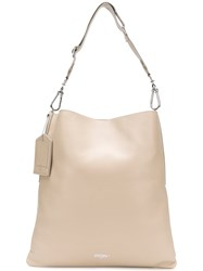 Golden Goose Deluxe Brand Slouched Logo Hobo Tote Nude And Neutrals